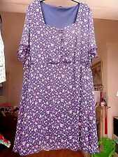 blue floral print fully lined  dress by So Fabulous size 32