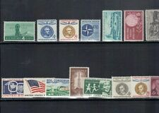 U.S. 1959 Commemorative Year Set, # 1124-38, 15 items COMPLETE, mint NH Fine