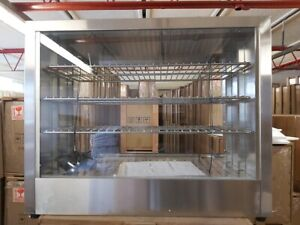 New Countertop Commercial Hot Display Case Pie Warmer shelves