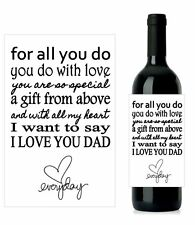 #D2 - Personalised Wine Labels Gift Dad Father Birthday  (set 2) 12.7cm x 8.4cm