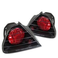 Fit Honda 98-00 Accord 2Dr Black Euro Style Rear Tail Lights Brake Lamp Coupe