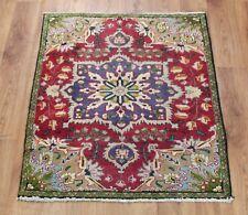 Traditional Vintage Wool Handmade Classic Oriental Area Rug Carpet 120 X 82 cm
