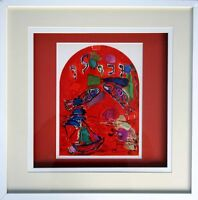 """Marc CHAGALL Lithograph LIMITED Ed. """"Zebulon"""" + Cat .Ref.c49 ++Gallery Framing"""