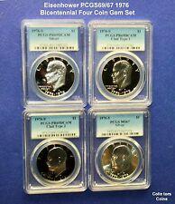 1976-S $1 Eisenhower Dollar 4 Coin PCGS DCAM69 & Silver PCGS 67 Set @ <Wholesale