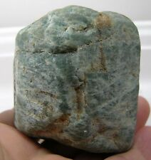 298g Brazil 100% Natural Raw Rough Neon Blue Apatite Crystal Specimen 10 oz 67mm