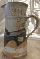 Vintage 70s Stoneware Ceramic Pitcher from Don Drumm Studios Primitive Design