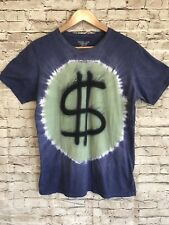 Mowgli Surf T-Shirt Tie Dye Medium M Purple Green Dollar Sign $ Cotton