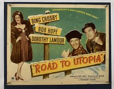 ROAD TO UTOPIA Movie Poster (Fine-) Half Sheet 1945 Bing Crosby Dorothy Lamour
