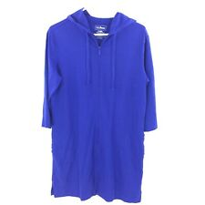 bba551f2cfe24 L. L. Bean full zip hooded bathing suit cover up royal blue small 3/4