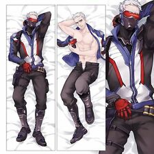 Hot Game Overwatch Dakimakura Soldier Hugging Body Pillow Cover Case (US Seller)