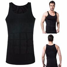 Men Slim Shirt Body Shaper Vest Abdomen Compression Tank Corset Weight Loss GYM