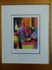 Abstract Art - Marcel Mouly  La Compotier Rose - Limited Edition 300