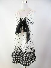 PAPAYA Womens Vtg 60s Retro Look Casual Summer Spotty Cotton Dress sz 10 S BG98