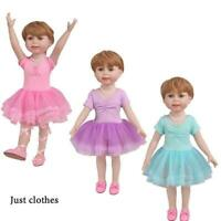 Clothes for 18 inch Baby Girl Doll, Unitard, tutu ballet slippers N5C3