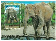 VINTAGE CLASSICS - Maldives 1866 - Endangered Elephants - Souvenir Sheet - MNH