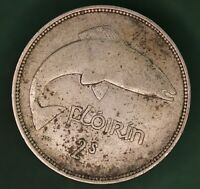 1942 Ireland Eire Irish florin two shilling coin 75% silver coin *[17645]