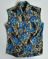 Dolce & Gabbana D&G Shirt Vintage Blouse Rare Top Sleeveless Flowers Womens 42