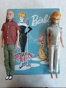 Vintage Barbie ponytail case 1962 with Barbie and Ken lot