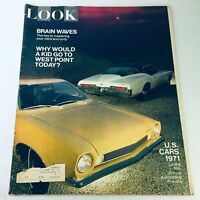 VTG Look Magazine October 6 1970 - Brain Waves / U.S. Cars 1971 Annual Preview