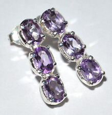 Amethyst 925 Sterling Silver Earrings Jewelry JJ2406