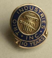 Trio Industries inc ,10 years, 10k gold ? pin 2.9g