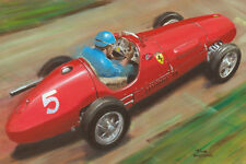 Card Ferrari 500 1953 #5 Alberto Ascari (ITA) by Toon Nagtegaal (OE)