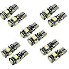 10X Can Bus Blanco Libre De Errores T10 5-SMD 5050 W5W 194 Interior bombilla LED