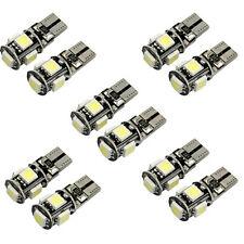 10X Canbus Bianco Senza Errori T10 5-SMD 5050 W5W 194 Interno lampadina LED 360°