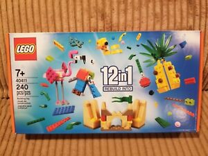New, Sealed LEGO Creative Fun 12-in-1 Building Toy Set 40411