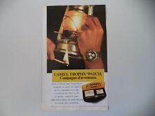 advertising Pubblicità 1988 CAMEL TROPHY WATCH