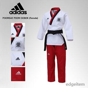Adidas Poomsae WTF Poom Uniform (Female) Taekwondo Dobok TKD Male Tae Kwon Do