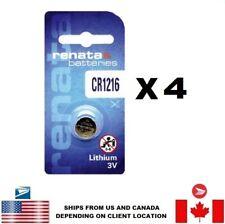 Lithium 1216 Swiss Made Us Seller 4 Pcs Renata Cr1216 Watch Batteries 3V