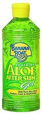 NEW Banana Boat Aloe Vera Sun Burn Relief Gel 16 Ounce Bottles Pack of 3
