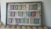 Next wall art Shabby Chic - Gorgeous wood hanging art