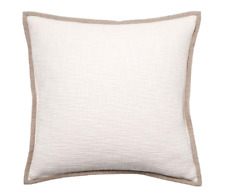 Pottery Barn Ivory Cotton Basketweave Pillow Case Sham Cover