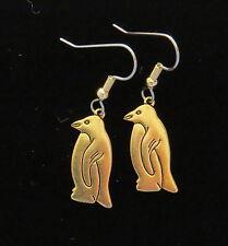 Penguin Earrings 24 Karat Gold Plate Hockey Aptenodytes Pygoscelis  Eudyptula