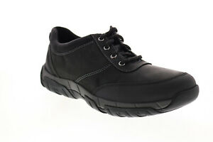 Clarks Grove Edge 26155028 Mens Black Leather Lifestyle Sneakers Shoes