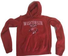 Wisconsin Hoodie Red Sweatshirt College Football Badgers Hoodie Wisconsin M