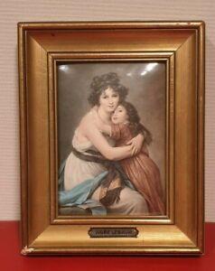 Tableau de Vigée Lebrun, martelé HELCA, encadrement d'origine doré à la feuille