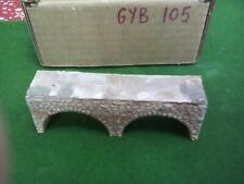twin arch bridge / viaduct -z scale gauge- Painted Stone Colour  ( GYB105)
