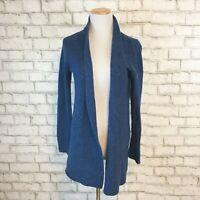 J.Jill Women's Blue Italian Yarn Thick Open front Cardigan Sweater Size Small