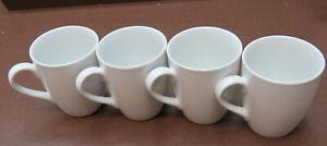 Retsch Arnsberg Porzellan 4 Stück BIstro Kaffebecher weiß neuwertig