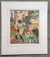 c1874 -  Walter Crane -  original 19th century coloured woodcut - Fairy Tale.
