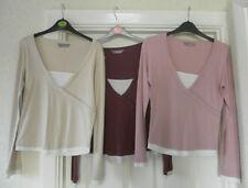 V Neck Long Sleeve Regular Size T-Shirts for Women