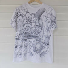 Liquid Blue Mens T-Shirt Large The Simpsons Comic Sketch Print Bart Homer Marge
