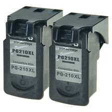 2 Pack Black PG-210XL For Canon 210XL Ink Cartridge PIXMA MP230 PIXMA MP240