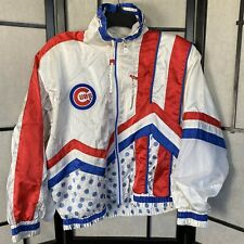 Vintage Chicago Cubs Satin Jacket Nylon Blue MLB Baseball Women's M Clown