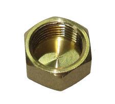 "3/8"" BSP Brass Cap / Blank Nut | Threaded Plumbing Fitting"