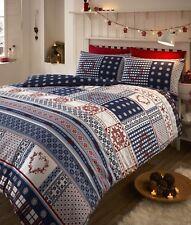Bedmaker Nordic Multi Double Flannelette Duvet Cover