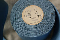 "10 yard roll 2"" blue vintage cotton rayon petersham ribbon millinery hat dress"